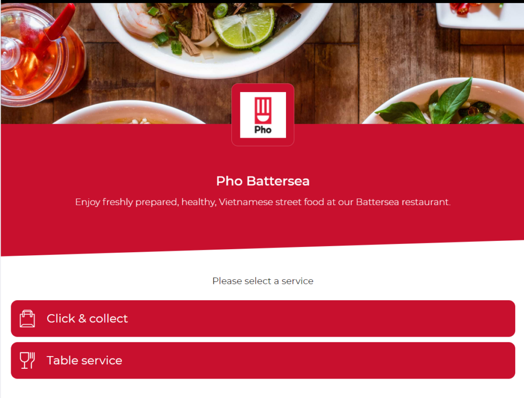Web ordering & payment